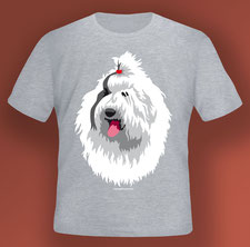 disegno-drawing-bobtail-old-english-sheepdog-head-digital-art-tshirt-grey