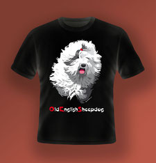 disegno-drawing-bobtail-old-english-sheepdog-head-testa-digital-art-illustrazione-vettoriale-tshirt-nera-black-scritta-a-due-colori