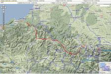 1. Etappe  Aucun - Montory (128 km, 2340 Hm)