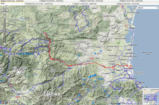 6. Etappe    Quillan - Saint Cyprien    (124 km, 1388 Hm)