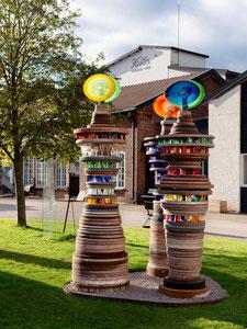 Skulpturen vor der Glashütte KOSTA BODA  Schweden