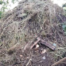 Kompostberge purer Dünger