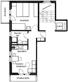 Plattegrond appartement 8