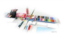 アートセラピーの用具の例
