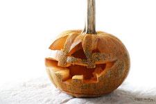 ハロウィーンかぼちゃの掘り方