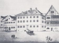 Neubau 1836. Erbaut von Joachim de Martin Haffter, Sohn von Martin Haffter.