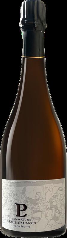 Bouteille de la cuvée Monochrome, champagne Grand Cru chardonnay Blanc de blancs | Champagne Launois Paul @ Le-Mesnil-sur-Oger - Côte des Blancs (Marne, 51, proche Épernay)