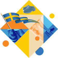 Visuel représentant un ensemble d'illustrations pour les sabots suédois pour femme