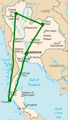Mai/Juni 2017: Bangkok, Udon Thani, Chiang Mai, Phuket