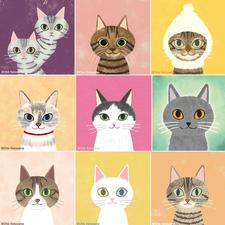 猫イラスト ネコ イラスト Bibitail