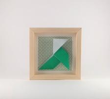 Cadre mural origami Cocotte ELO DECO ATELIER decoration chambre enfant, cadeau de naissance