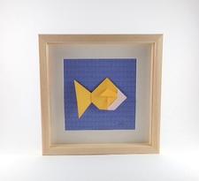 Cadre mural origami Poisson ELO DECO ATELIER decoration chambre enfant, cadeau de naissance