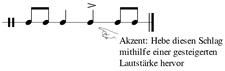 Akzent Musik Beispiel