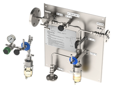 Mechatest Liquid Sample Station, Bottle Samplers On-off and Bypass Configuration