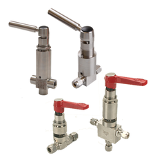 Mechatest Spring Return Handles valves Swagelok, Hoke, Fitok