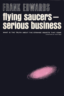 Flying saucers - serious business by Frank Edwards