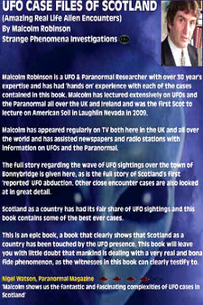 UFO Cases Files Of Scotland by Malcolm Robinson