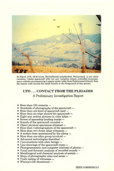 UFO... Contact from the Pleiades - A Preliminary Investigation Report