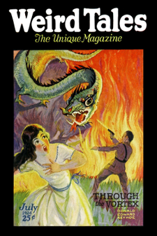 Weird Tales - Through the vortex by Donald E. Keyhoe