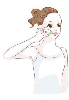 黄色人の皮膚は刺激に弱く、角層修復のための細胞分裂は、メラニンをつくり出して肌荒れを伴う 色素沈着(しみ)やそばかすの原因になります。クロロフイル美顔教室では、皮膚の細胞呼吸を妨げない、 再生力を補うようなパッティングをガーゼを使ってご指導します。