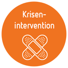 Icon Krisenintervention - Button mit gekreuzten Pflastern