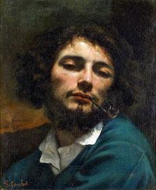 《パイプをくわえる男》1848-1849年