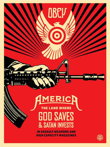 Shepard Fairey God Saves