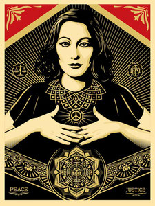 Shepard Fairey Peace and Justice woman