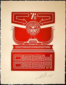 Shepard Fairey Chinese Banner Letterpress