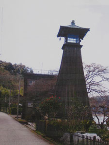美濃上有知灯台。山陽と藤城が詩を 詠みあったのはこの付近であろうか。