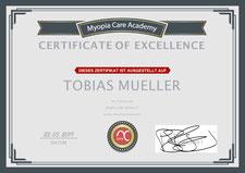 Myopia Care Spezialist Zertifikat