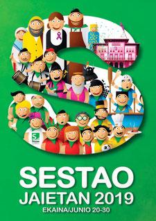 Cartel y programa de las Fiestas de San Pedro en Sestao 2015
