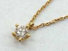 金のダイヤモンドネックレスを買取