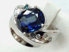 上尾市でサファイアダイヤモンドリングを買取