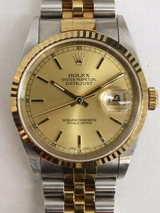 ROLEX ロレックス デイトジャスト 16233(P番)など腕時計の買取は埼玉県上尾市の質屋かんてい局上尾駅前店