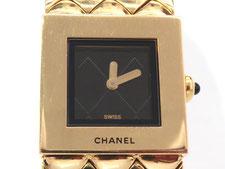 CHANEL シャネル マトラッセ K18YG クオーツ時計など腕時計の買取は埼玉県上尾市の質屋かんてい局上尾駅前店
