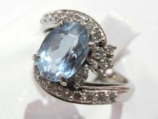 アクアマリンダイヤリングなど宝石、ジュエリーの買取は埼玉県上尾市の質屋かんてい局上尾駅前店
