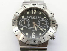BVLGARI ブルガリ SCB38S ディアゴノ スクーバ クロノなど腕時計の買取は埼玉県上尾市の質屋かんてい局上尾駅前店