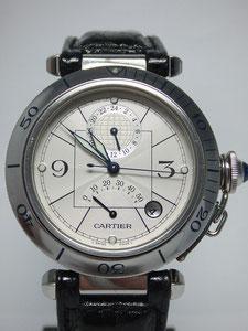 CARTIER カルティエ パシャ38mm GMT パワーリザーブなど腕時計の買取は埼玉県上尾市の質屋かんてい局上尾駅前店