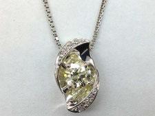 イエローダイヤネックレスの宝石買取は質屋かんてい局上尾駅前店(金やプラチナで質預かりいたします)