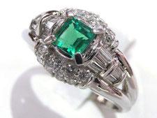 (指輪)エメラルドダイヤリングの買取は質屋かんてい局上尾駅前店(金やプラチナで高額ご融資いたします)