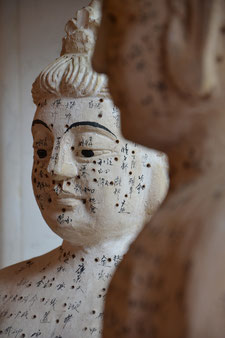 Meridiansystem der Traditionellen Chinesischen Medizin mit den Akupunkturpunkten