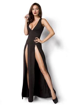 Kleid mit Beinschlitzen