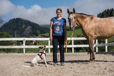 Barbara mit Schulpferd Asza