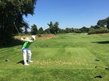 """Jens Dantorp auf Tee 7 des """"Beckenbauer Course"""" im Hartl Resort Bad Griesbach"""