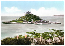 Postkarte St. Michael's Mount um 1900