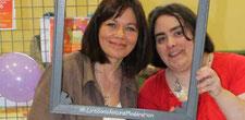 L'auteur Cécile Alix avec l'illustratrice Cloé Perrotin avec le hashtag LireSansAucuneModération