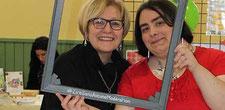 L'auteur Marie Garnier avec l'illustratrice Cloé Perrotin avec le hashtag LireSansAucuneModération