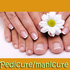 Beautiful nails with our pedicure/manicure treatment
