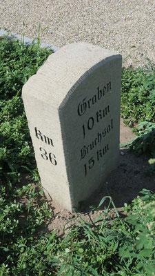 Auch der bei der Erschließung des Neubaugebiets Speyerer Feld wiedergefundene und von der Stadt Waghäusel neu aufgestellte Kilometerstein an der Mannheimer Straße, ist ein Kleindenkmal und dürfte älter als 100 Jahre sein.
